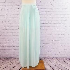 Costa Blanca Pleated Split Front Skirt, Size M